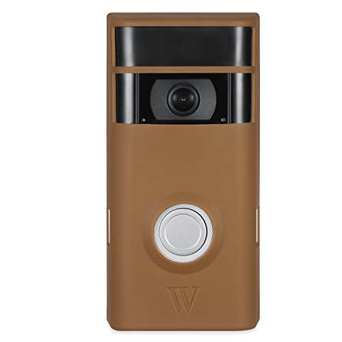 Colorful & Protective Silicone Skins for Ring Video Doorbell 2 - Protect and Camouflage Your Ring Video Doorbell 2 with These UV Light- and Weather Resistant Silicone Skins (Brown)