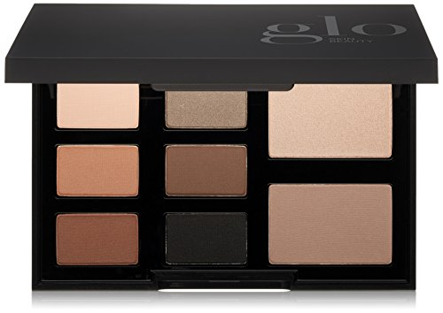 Glo Skin Beauty Eye Shadow Palette in Elemental Eye - Smokey Black | 8-Color in 4 Shade Options | Powder Eyeshadow - Mineral Eye Kit Shadow