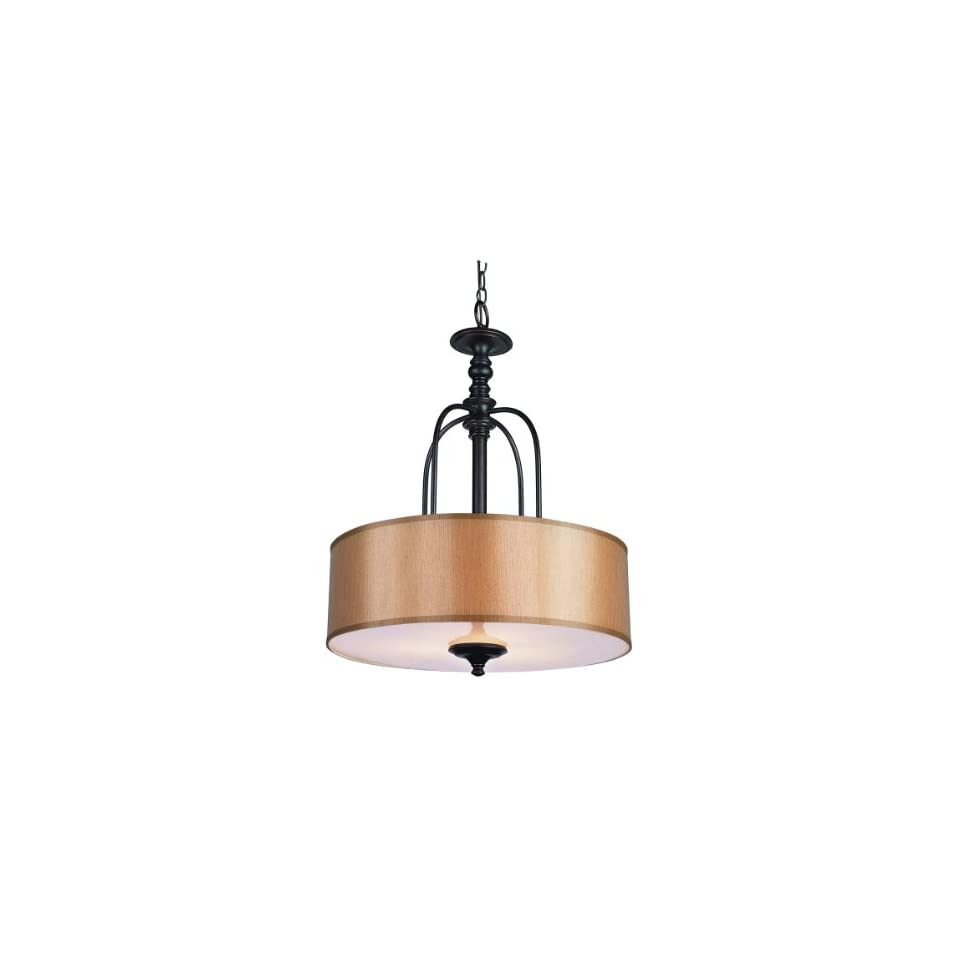Trans Globe Lighting 9624 3 Light Hanging Large Pendant, Rubbed Oil