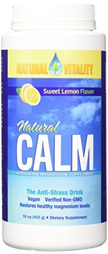 Natural Vitality Natural Calm, Lemon, 16 Ounce