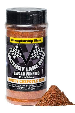 Honey Lane - Victory Lane BBQ 16 Oz Shaker of Dry Rub-Award-Winning Competition Quality Championship Blend (Honey Chipotle, 16 Oz Shaker)