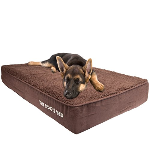The Dog's Bed, Orthopedic Premium Memory Foam Waterproof Dog Bed, 4 Sizes/6 Colors, Ease Pet Arthritis & Hip Dysplasia Pain, Therapeutic & Supportive, Removable Washable Quality Oxford & Plush Covers by The Dog's Balls