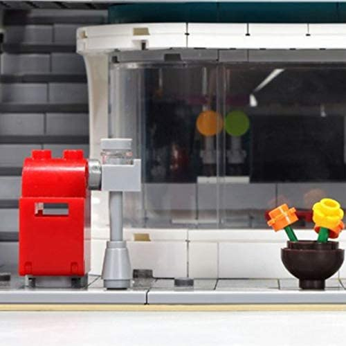 Ding Creative Classic Street View Series Nostalgische Restaurant Montage Toys assembleren Building Blocks
