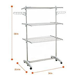 Liwooliving Premium Stainless Clothes Drying Rack_ Made In Korea