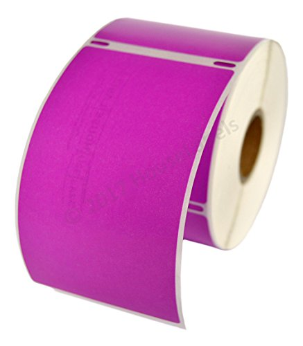 1 Roll; 300 Labels per Roll of DYMO-Compatible 30256 PURPLE Large Shipping Labels (2-5/16 x 4) -- BPA Free!