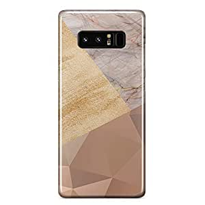 Samsung Note 8 case Geometrical Wood Marble Print Metal Inforced Light Weight Wrap Around Phone Cover