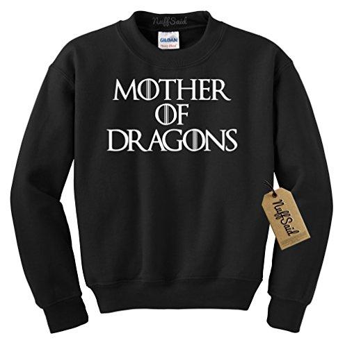 Mother of Dragons Sweatshirt GOT Pullover - Unisex, Black, Medium