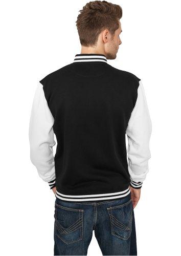 Veste - Blouson College hommes Urban Classics 2 Tone - Couleur noir-blanc - Taille: 3XL + Bandana gratuit