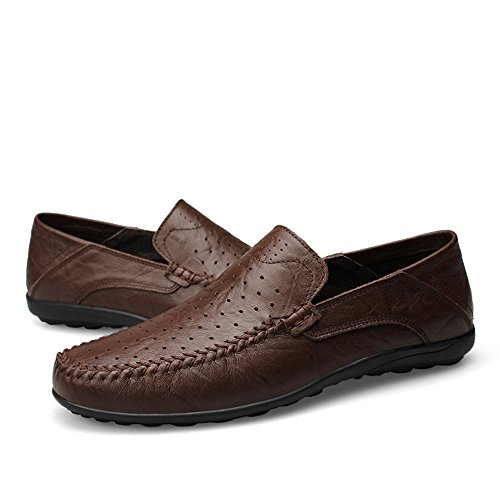 Moda Design Uomo Casual da Driving Scarpe Cricket di Slip Slipper alla Mocassini Morbidi da On Loafer txFwXX