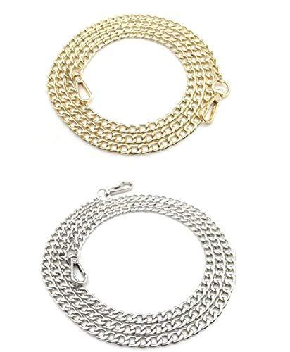 hombro cadena de dorado repuesto con metal hebillas de bolso mano de para accesorio de plateado bolso para Bandolera FvUfxwq7