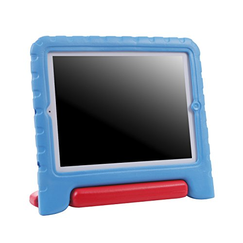 HDE Shock Proof iPad Case for Kids Bumper Cover Handle Stand for Apple iPad 2 iPad 3 iPad 4 (Blue & Red)