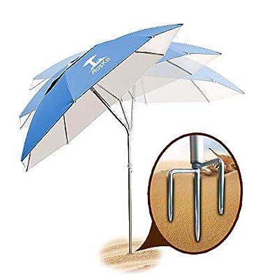 AosKe Patio Umbrella Beach Umbrella Sports Umbrella Portable Sun Shade Umbrella Inclined Heat Insulation Antiultraviolet SPF 50+