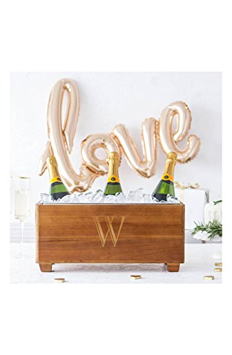 Personalized Wedding Wooden Wine Trough (Personalized Wine Cooler)