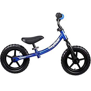 side facing blue joystar marcher balance bike