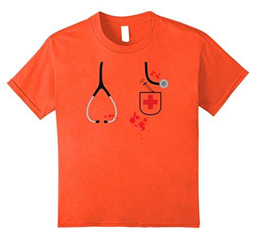 Kids DOCTOR HALLOWEEN COSTUME SHIRT, Stethoscope Syringe Cross 10 (One Of A Kind Couples Halloween Costumes)