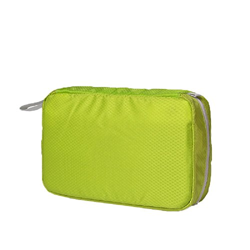 Ysiop Solid Nylon Travel Toiletry Bag Waterproof Cosmetic Pouch Portable Makeup Storage Bag Green (Flapper Makeup Kit)