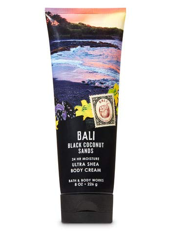Bath and Body Works BALI BLACK COCONUT SANDS Deluxe Gift Set Lotion ~ Cream ~ Fragrance Mist ~ Shower Gel + FREE Shower Sponge Lot of 5