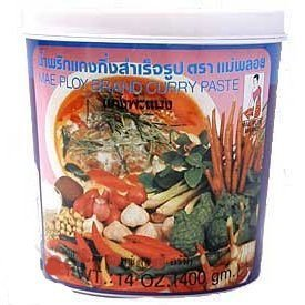(Mae Ploy Thai Panang Curry Paste - 14 oz jar)