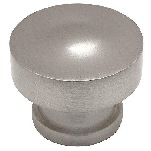 (Cosmas 704SN Satin Nickel Round Contemporary Cabinet Hardware Knob - 1-1/4