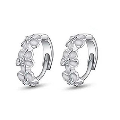 HIRIRI Hot Sale 1Pair Women's Beautiful Camellia Of Design Of Stud Earrings Ear Clip (Germany Clip Earrings)