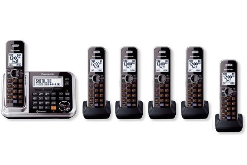Panasonic KX-TG7875S + 1 KX-TGA680S HANDSETS (6 Handsets total) DECT 6.0 PLUS Link-to-Cell Bluetooth Cellular Convergence Solution Cordless Phone System (KX-TG7876S, KX-TG7874S + 2, KX-TG7873S + 3, KX-TG7872S + 4, KX-TG7871S + 5) (Certified (Enhanced Key Telephone)