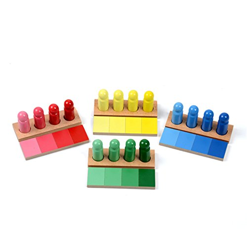 Yigooood Famille Version jouet bébé Montessori Couleur Ressemblance Tri tâche Wood premiers enfants Jouets d'enfant