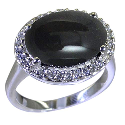 Gemsonclick Choose Your Gemstone Color Oval Natural Silver Halo Wedding Rings for Women Fashion Indian Jewelry Gift