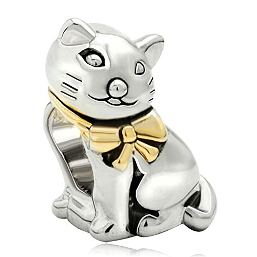 CharmSStory Cute Cat Animal Charm Beads For Bracelets (Style 2)