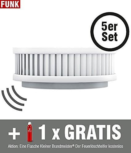 Conjunto de 5 detectores de humo pequeño Brand Meister Pyrexx PX-1 vt-1 C Incluye ...