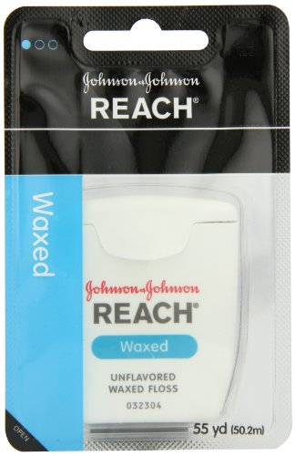 Reach J&J Dental Floss Waxed 55 Yd (Pack of 6) (Waxed Dental Floss compare prices)