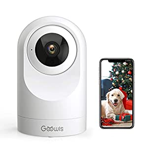 Flashandfocus.com 41HWlBi6mLL._SS300_ WiFi Camera Indoor, Goowls Home Security Pet Dog PTZ 2.4GHz 1080P Wired IP Camera for Baby/Pet/Nanny Monitor Night…