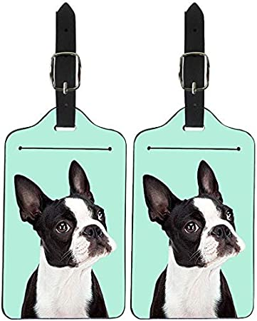 Travel Gift Boston Terrier Dog French Bulldog Travel Luggage Tag Bag Tag