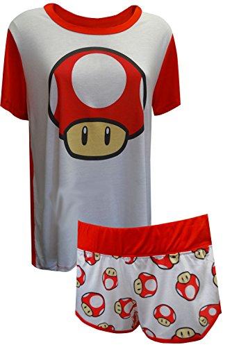 Nintendo Super Mario Super Mushroom Power Up Shortie Pajama for women