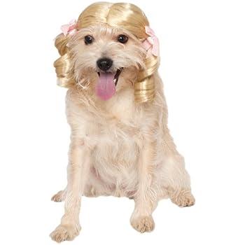 Rubies Costume Company Blonde Cheerleader Pet Wig, Medium/Large