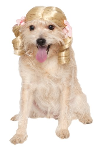Rubie's Blonde Cheerleader Pet Wig, Small/Medium