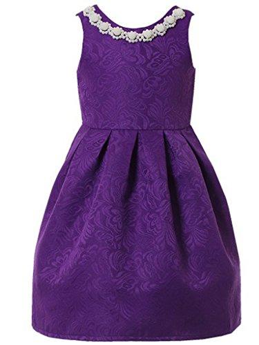 Girls Purple Dress - 4