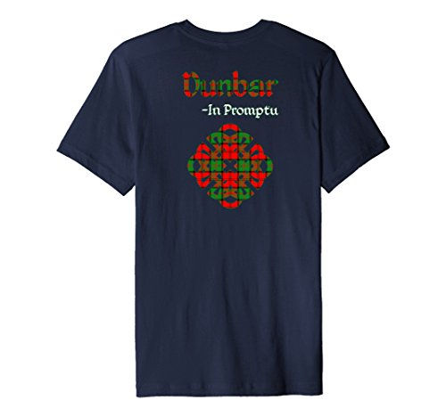 Mens Clan Dunbar Scottish Pride T-Shirt 2XL Navy