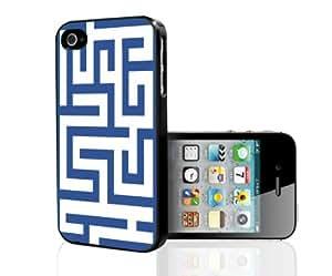 Blue Maze Hard Snap on Phone Case (iPhone 4/4s)