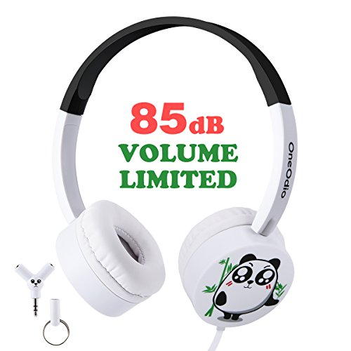 OneOdio Kids Headphones with Audio Splitter - 85dB Volume Limited Headphones with Tangle Free Cord for Kids, Durable Light Weight & Foldable Headsets for iphone ipad Notebook and More