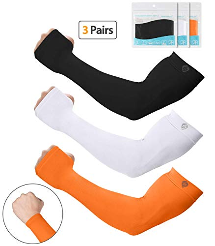 SHINYMOD UV Protection Cooling Arm Sleeves Men Women Sunblock Cooler Protective Sports Running Golf Cycling Basketball Driving Fishing Long Arm Cover Sleeves (Cycling Sun Sleeves)