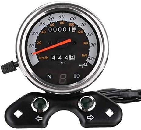 BXU-BG ライトUSB充電器インターフェイス、カフェレーサーオートバイオドメータースピードメーターオートバイの交換部品自動二輪車の走行距離計スピードメーターLCDデジタルメーター、