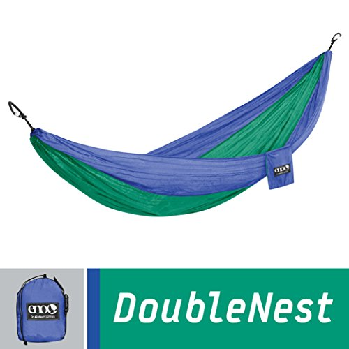Eagles Nest Outfitters - DoubleNest Hammock, Royal/Emerald (Outdoor Lifestyle Furniture Manufacturers)