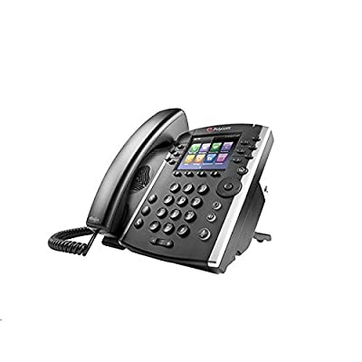 Polycom 2200-46162-025 VVX 410 12-Line IP Phone Gigabit PoE (Power supply not included) (Certified Refurbished)