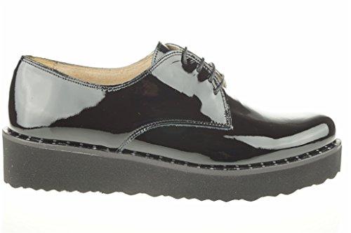 Charol Blucher Peau Black Shoes Lince BfSOgS