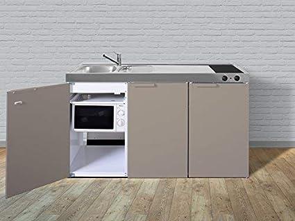 Exceptionnel Stengel Miniküche Metallküche Singleküche Küche 150cm Beige Becken Rechts  Ceran