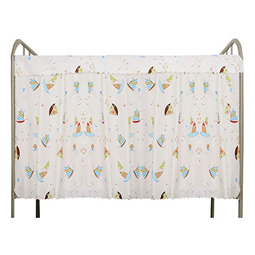 (CLARA Single Sleeper Bunk Bed Curtain College Student Dorm Bed Canopy Bedding Tent Blackout Mosquito Nets Bedding Curtain White(1 Panel+1 Top))