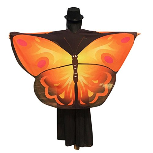 Kimono Cardigan, METFIT Women Butterfly Wings Shawl Loose Tops Blouse (Yellow)