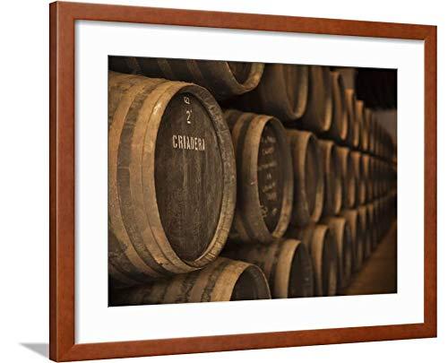 ArtEdge Sherry Casks, Bodegas Gonzalez Byass, Jerez De La Frontera, Spain by Walter Bibikow, Brown Matted Wall Art Framed Print, 18 x 24'