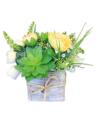 Amazon Com Sweet Home Deco Silk Spring Flowers Fake Succulents