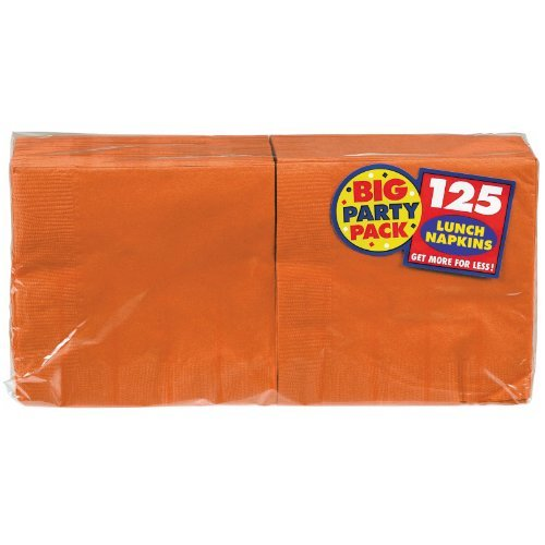 Orange Peel Big Party Pack - Lunch Napkins (125 count) [Toy] by Amscan